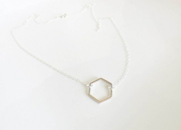 hexagon charm necklace-740x740
